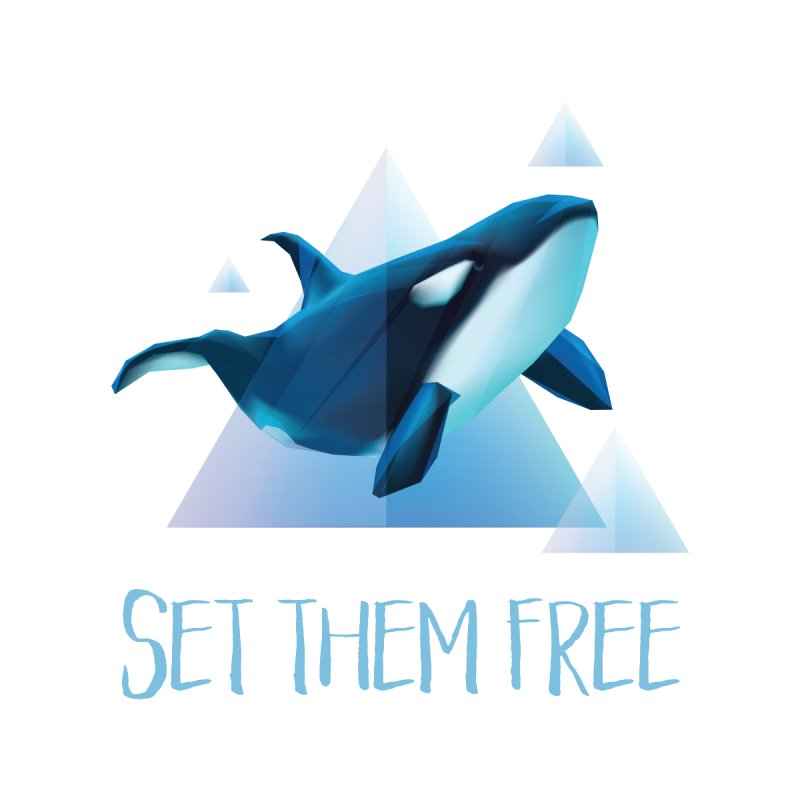Set Them Free Orca Whales for Animal Rights Activists Men's T-shirt by Awkward Design Co. Artist Shop