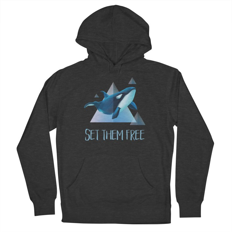 Set Them Free Orca Whales for Animal Rights Activists Men's Pullover Hoody by Awkward Design Co. Artist Shop