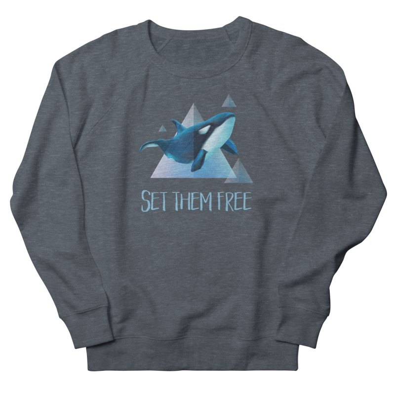 Set Them Free Orca Whales for Animal Rights Activists Men's Sweatshirt by Awkward Design Co. Artist Shop