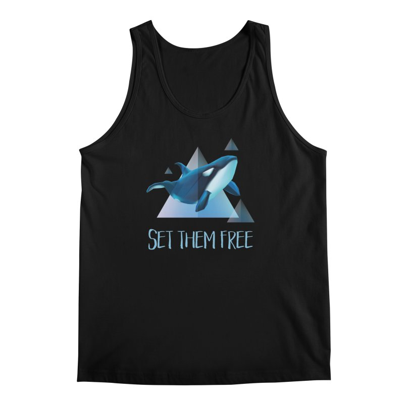 Set Them Free Orca Whales for Animal Rights Activists Men's Tank by Awkward Design Co. Artist Shop