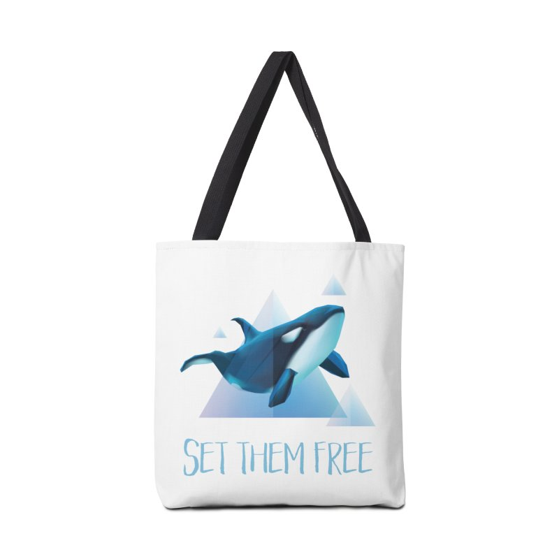 Set Them Free Orca Whales for Animal Rights Activists Accessories Bag by Awkward Design Co. Artist Shop