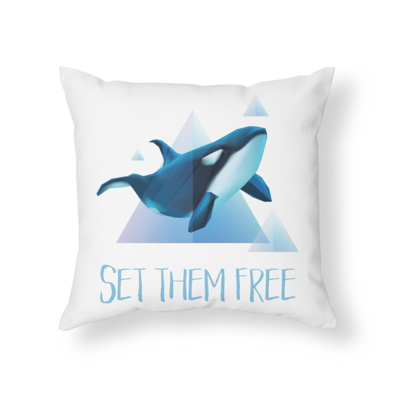 Set Them Free Orca Whales for Animal Rights Activists Home Throw Pillow by Awkward Design Co. Artist Shop