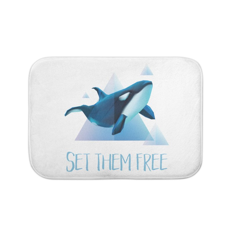 Set Them Free Orca Whales for Animal Rights Activists Home Bath Mat by Awkward Design Co. Artist Shop