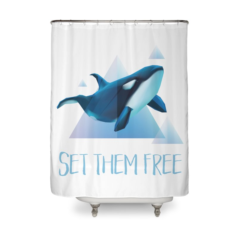 Set Them Free Orca Whales for Animal Rights Activists Home Shower Curtain by Awkward Design Co. Artist Shop