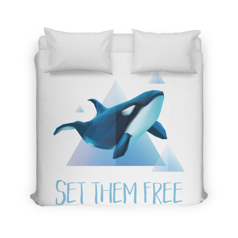 Set Them Free Orca Whales for Animal Rights Activists Home Duvet by Awkward Design Co. Artist Shop
