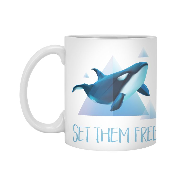 Set Them Free Orca Whales for Animal Rights Activists Accessories Mug by Awkward Design Co. Artist Shop