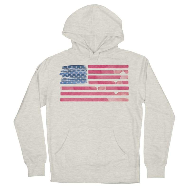 Patriotic Pride Distressed Style American Flag Men's Pullover Hoody by Awkward Design Co. Artist Shop