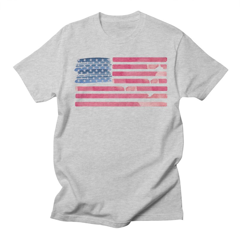 Patriotic Pride Distressed Style American Flag Men's T-shirt by Awkward Design Co. Artist Shop