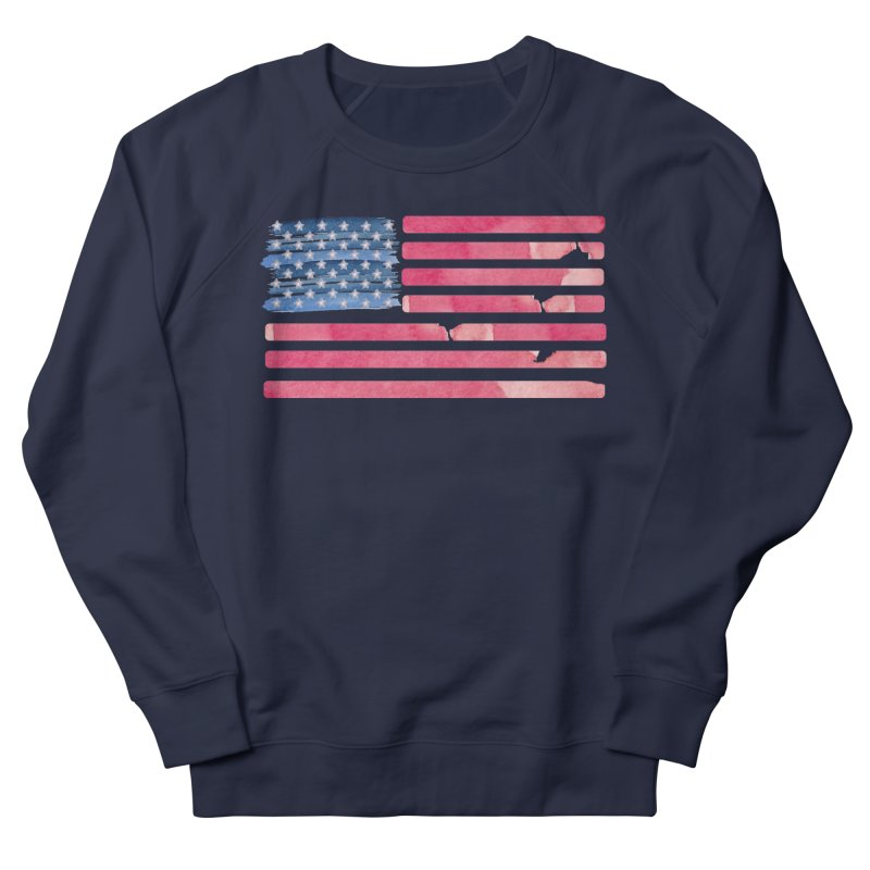 Patriotic Pride Distressed Style American Flag Men's Sweatshirt by Awkward Design Co. Artist Shop