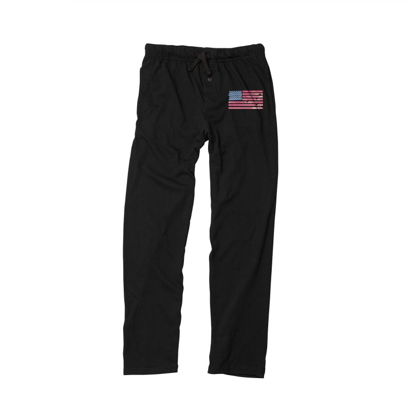 Patriotic Pride Distressed Style American Flag Men's Lounge Pants by Awkward Design Co. Artist Shop
