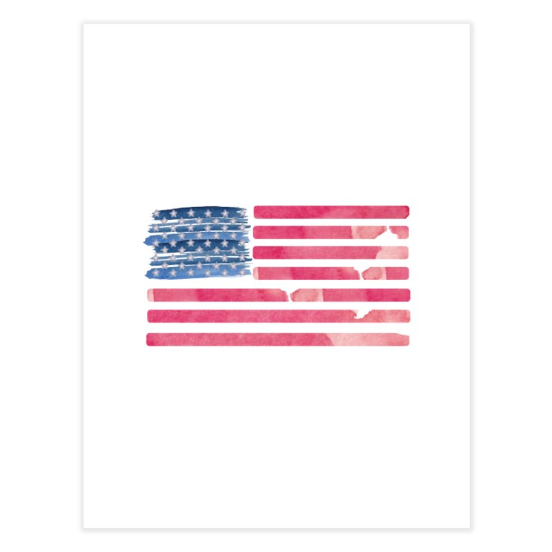 Patriotic Pride Distressed Style American Flag Home Fine Art Print by Awkward Design Co. Artist Shop
