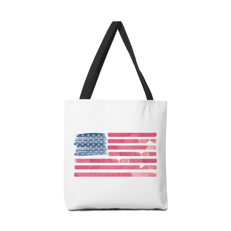 Patriotic Pride Distressed Style American Flag Accessories Bag by Awkward Design Co. Artist Shop