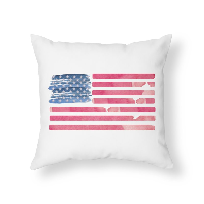 Patriotic Pride Distressed Style American Flag Home Throw Pillow by Awkward Design Co. Artist Shop