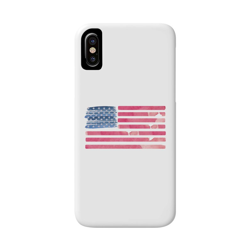 Patriotic Pride Distressed Style American Flag Accessories Phone Case by Awkward Design Co. Artist Shop