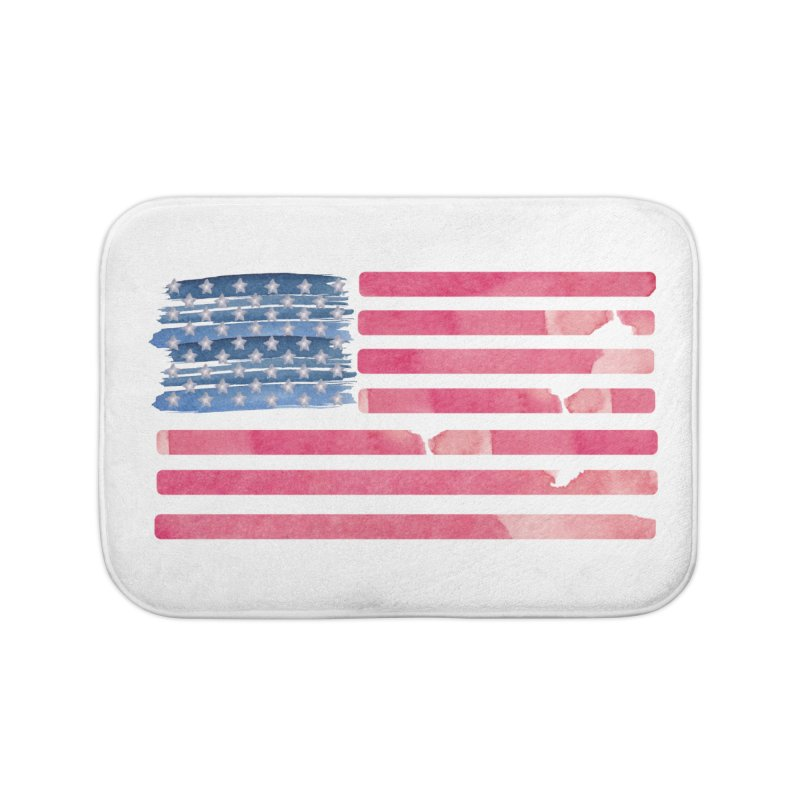 Patriotic Pride Distressed Style American Flag Home Bath Mat by Awkward Design Co. Artist Shop