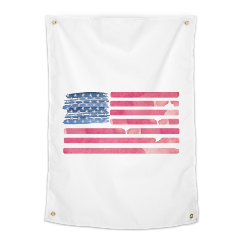 Patriotic Pride Distressed Style American Flag Home Tapestry by Awkward Design Co. Artist Shop