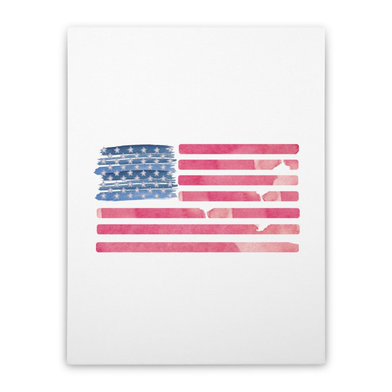 Patriotic Pride Distressed Style American Flag Home Stretched Canvas by Awkward Design Co. Artist Shop