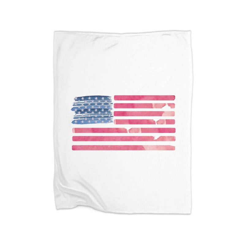 Patriotic Pride Distressed Style American Flag Home Blanket by Awkward Design Co. Artist Shop