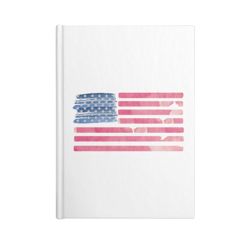 Patriotic Pride Distressed Style American Flag Accessories Notebook by Awkward Design Co. Artist Shop