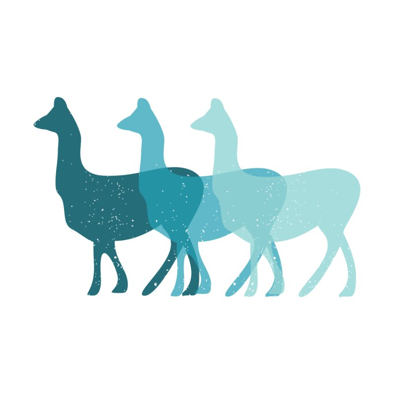 Blue Alpacas Men's Pullover Hoody by Awkward Design Co. Artist Shop