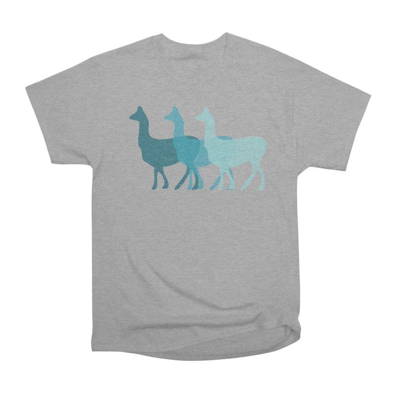 Blue Alpacas Women's Classic Unisex T-Shirt by Awkward Design Co. Artist Shop