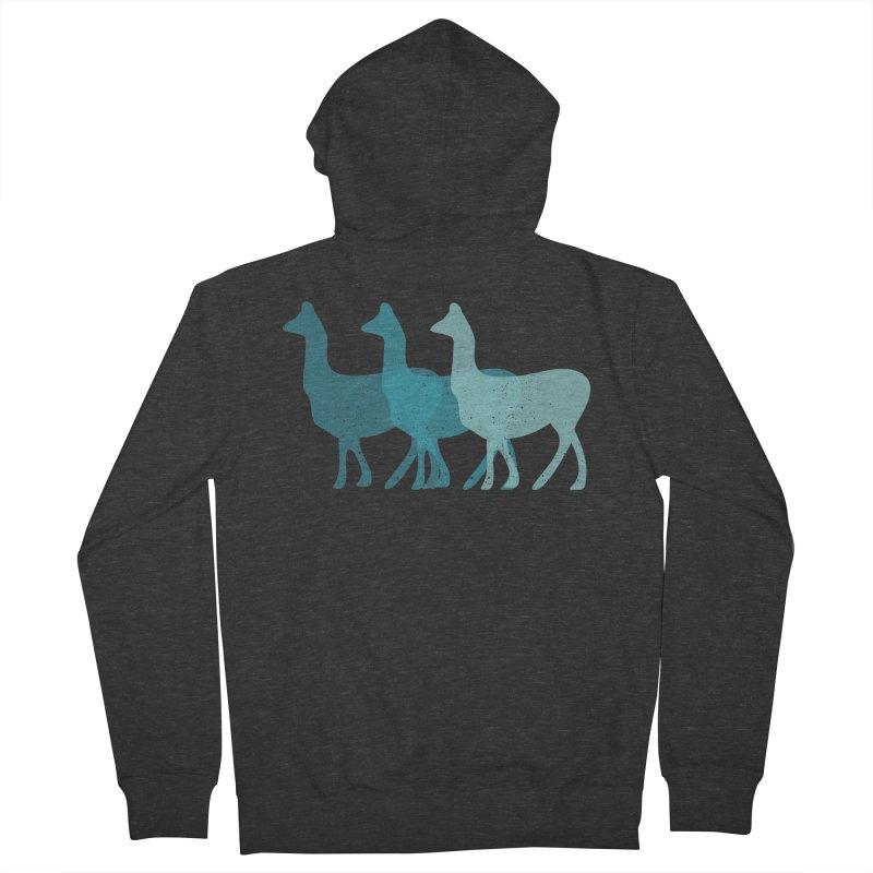 Blue Alpacas Women's Zip-Up Hoody by Awkward Design Co. Artist Shop