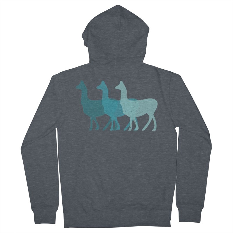 Blue Alpacas Women's Zip-Up Hoody by Awkward Design Co. Artist Shop