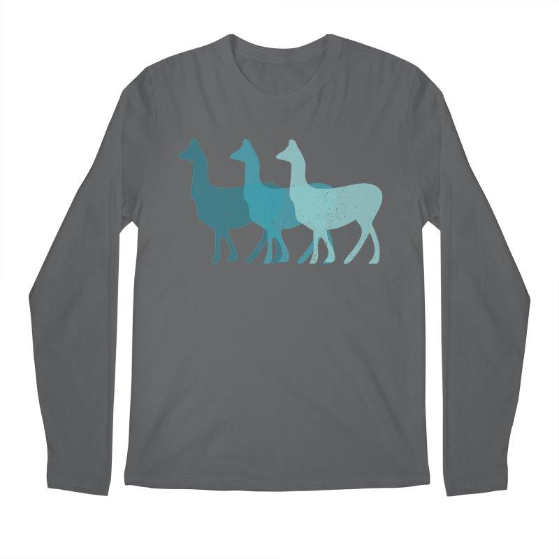 Blue Alpacas Men's Longsleeve T-Shirt by Awkward Design Co. Artist Shop