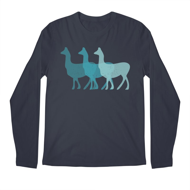 Blue Alpacas Men's Longsleeve T-Shirt by Awkward Design Co. Artist Shop