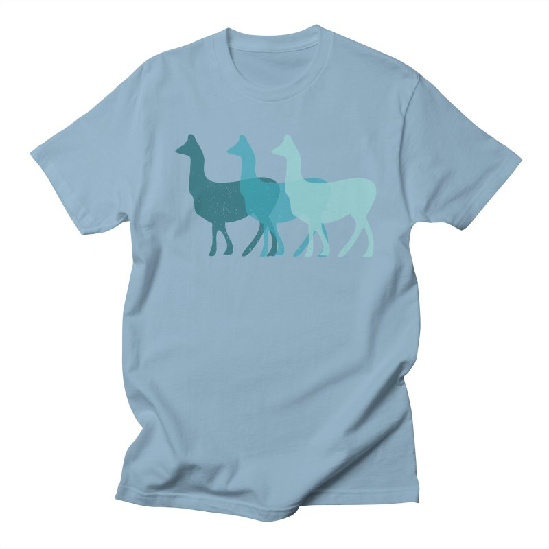 Blue Alpacas Men's T-Shirt by Awkward Design Co. Artist Shop