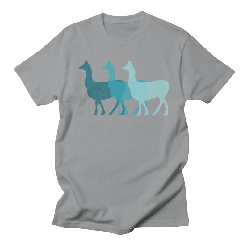 Blue Alpacas Women's Unisex T-Shirt by Awkward Design Co. Artist Shop
