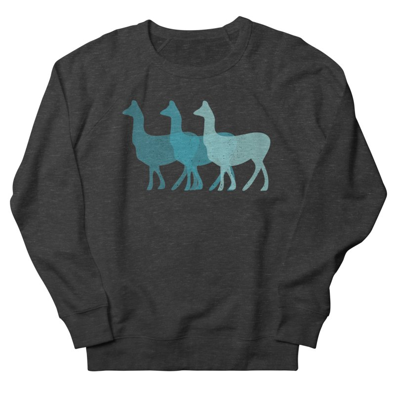 Blue Alpacas Women's Sweatshirt by Awkward Design Co. Artist Shop