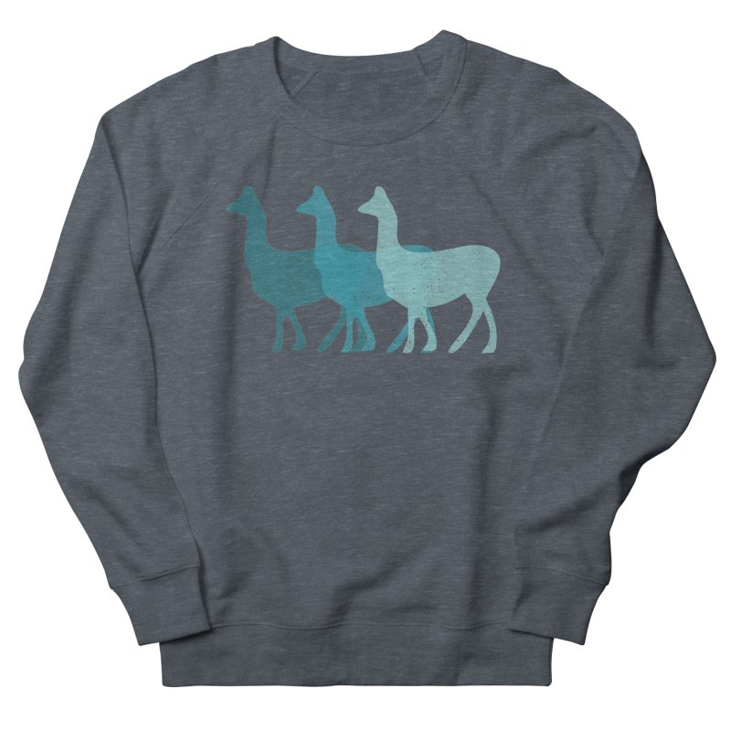 Blue Alpacas Women's Sweatshirt by Awkward Design Co. Artist Shop