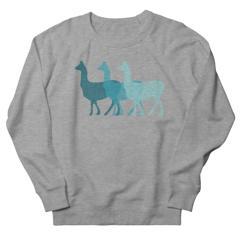 Blue Alpacas Men's Sweatshirt by Awkward Design Co. Artist Shop