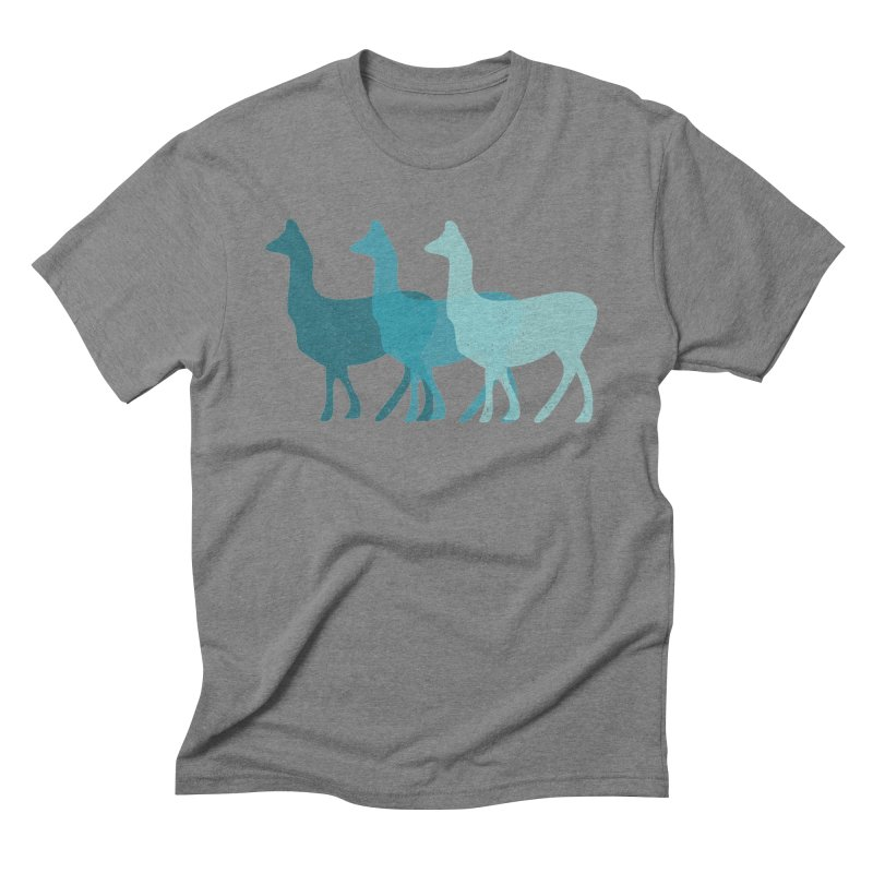 Blue Alpacas Men's Triblend T-shirt by Awkward Design Co. Artist Shop