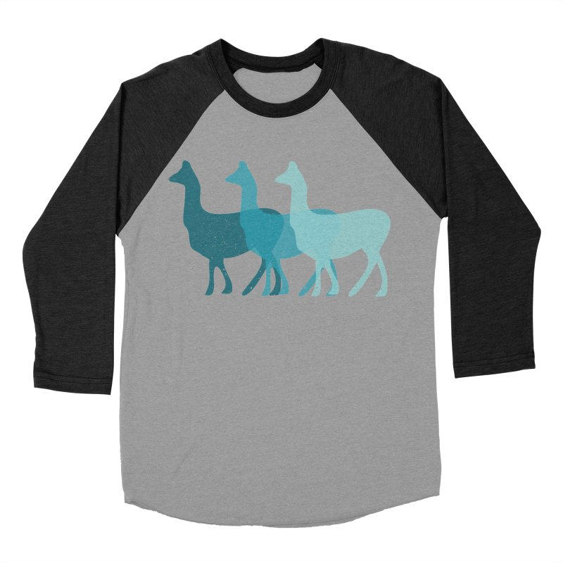 Blue Alpacas Men's Baseball Triblend T-Shirt by Awkward Design Co. Artist Shop