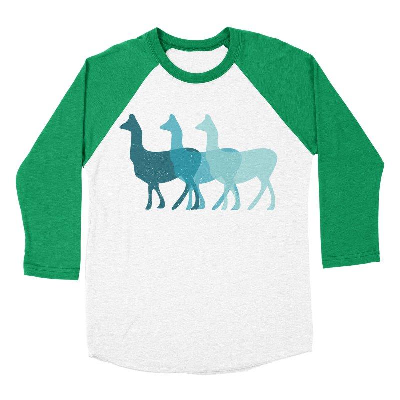 Blue Alpacas Men's Baseball Triblend T-Shirt by Awkward Design Co. Artist Shop