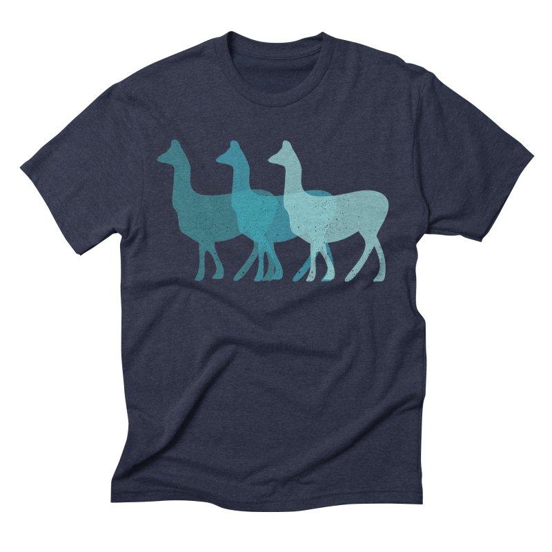 Blue Alpacas Men's Triblend T-shirt by Awkward Design Co. Artist Shop
