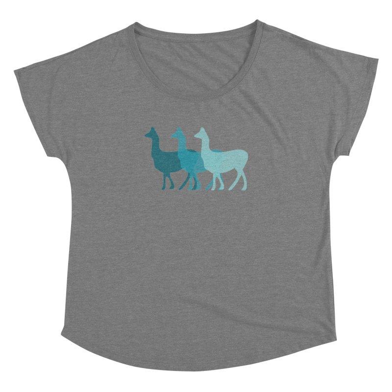 Blue Alpacas Women's Dolman by Awkward Design Co. Artist Shop