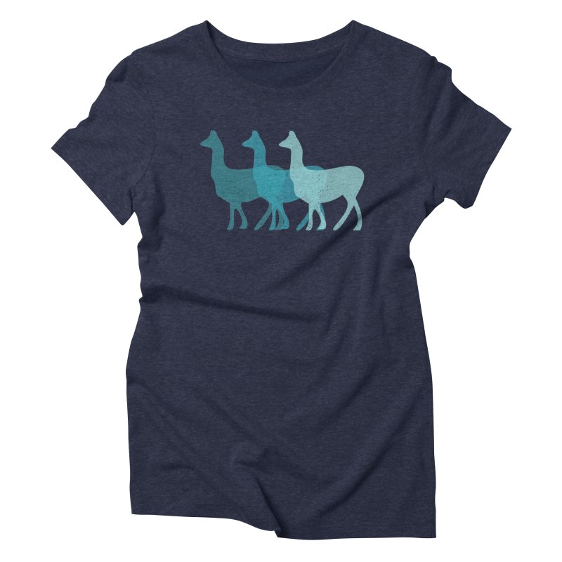 Blue Alpacas Women's Triblend T-shirt by Awkward Design Co. Artist Shop