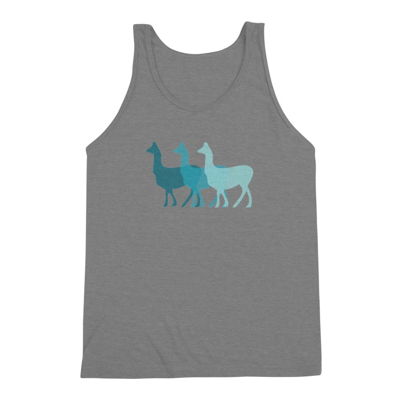 Blue Alpacas Men's Triblend Tank by Awkward Design Co. Artist Shop