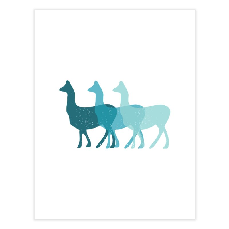 Blue Alpacas Home Fine Art Print by Awkward Design Co. Artist Shop