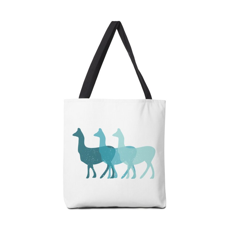 Blue Alpacas Accessories Bag by Awkward Design Co. Artist Shop