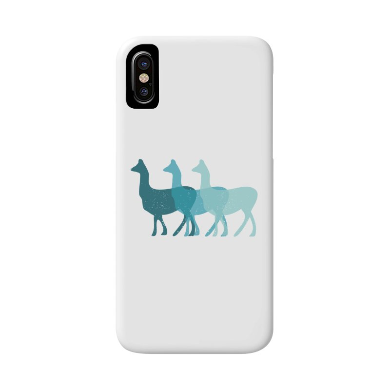 Blue Alpacas Accessories Phone Case by Awkward Design Co. Artist Shop