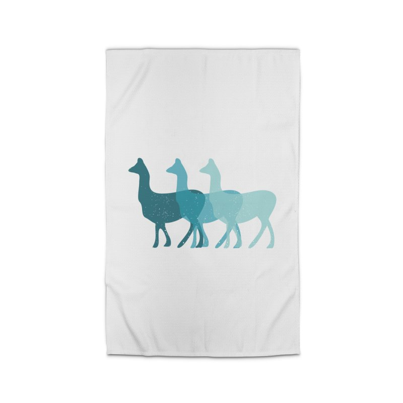 Blue Alpacas Home Rug by Awkward Design Co. Artist Shop