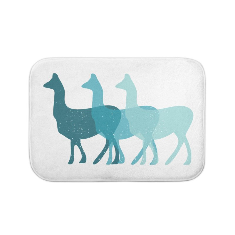 Blue Alpacas Home Bath Mat by Awkward Design Co. Artist Shop