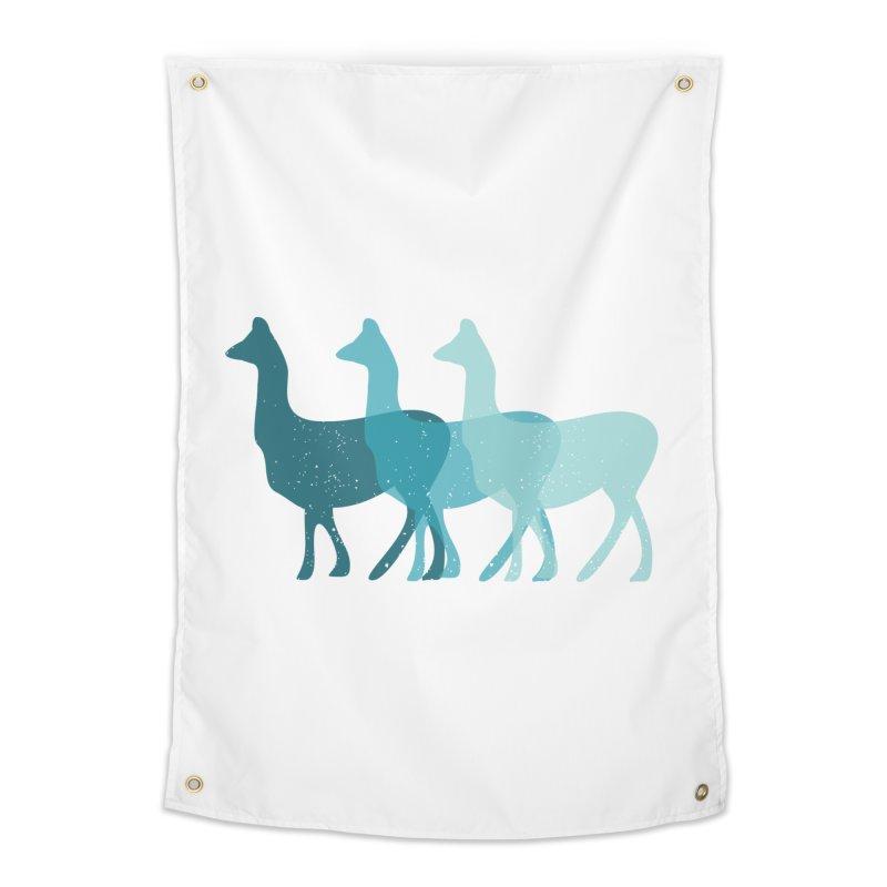 Blue Alpacas Home Tapestry by Awkward Design Co. Artist Shop