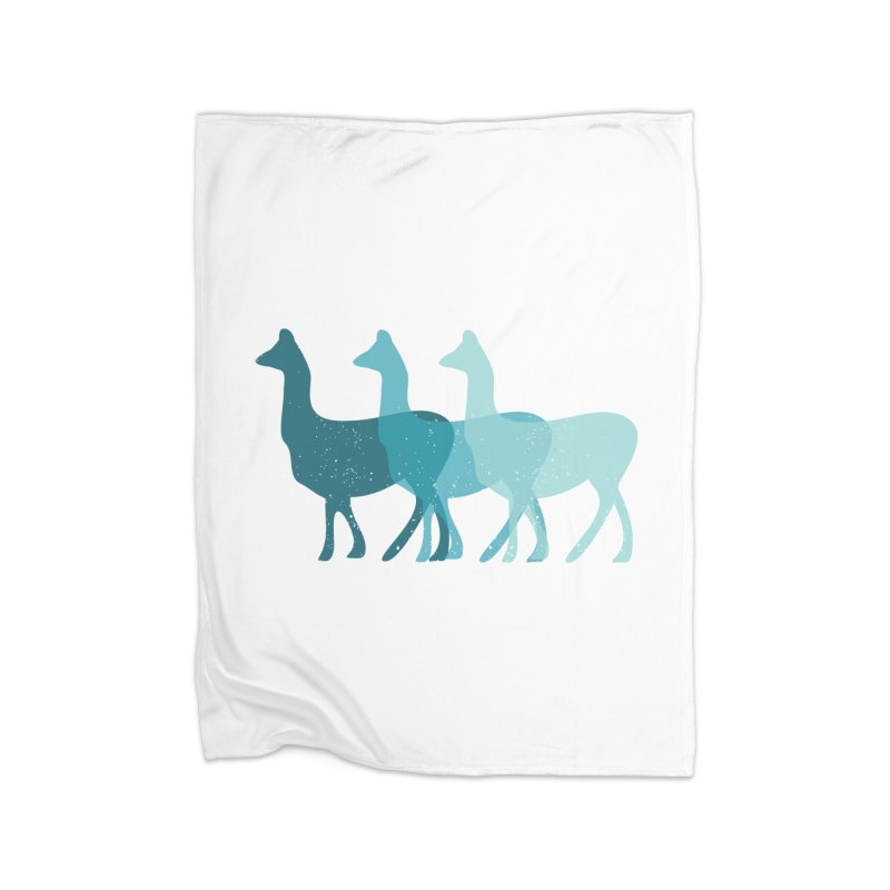 Blue Alpacas Home Blanket by Awkward Design Co. Artist Shop