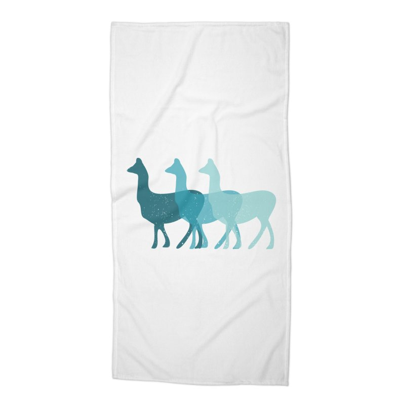 Blue Alpacas Accessories Beach Towel by Awkward Design Co. Artist Shop