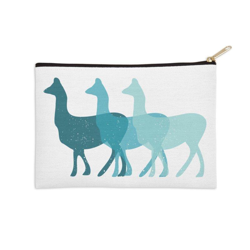 Blue Alpacas Accessories Zip Pouch by Awkward Design Co. Artist Shop